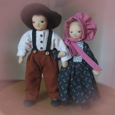 Ma and Pa Ingalls Doll Maker, Dollhouse Dolls, Teddy Bear, Wool, Fabric, Animals, Tejido, Animales, Animaux