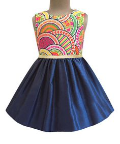 Another great find on #zulily! Navy Scallop Flora A-Line Dress - Infant, Toddler & Girls #zulilyfinds
