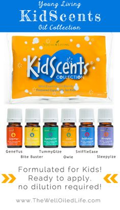 New Young Living Essential Oil Kit for Kids!  KidScents Oil Collection - www.thewelloiledlife.com for more info!
