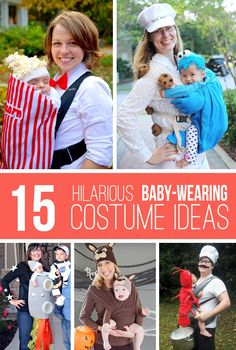 15 Hilarious Baby-Wearing Costume Ideas....that you can make yourself!