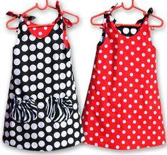 Tie Top Dress Pattern. Girls Dress Pattern. PDF Sewing Pattern