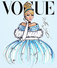 Disney Divas for Vogue by Hayden Williams- Cinderella