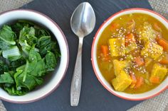 Tempeh-Cabbage Curry with Chard