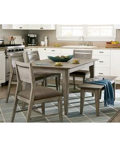 Kips Cove Dining Furniture, 5-Pc. Set (Dining Table & 4 Side ...