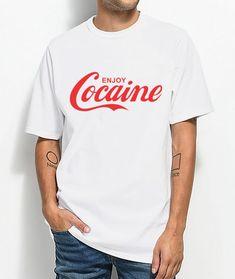 f16bd9ca Cocaine Enjoy Parody Coca Cola Funny T-shirt