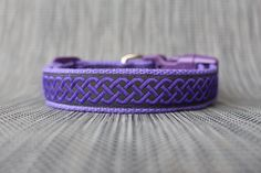 Purple Celtic Dog Collar - Adjustable Collar - Sizes Small to Large by TopPetz on Etsy