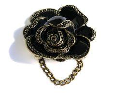 Brošňa vintage ruža. Vintage brooch. #womanology #jewelry #accessories #vintagebrooch