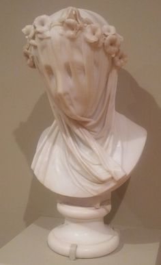 """Stunning sculpture by Raffaelle Monti - """"Veiled Woman"""" (MIA)"""