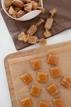 Homemade Apple Cider Caramels | Annie's Eats...and after you make these caramels, you can make her brown butter stuffed apple cider caramel cookies!!