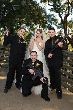 Whatever happened to a good old-fashioned shotgun wedding? #awkwardweddings.com  #DBBridalStyle