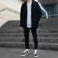 Moda Hipster Hombre Outfits Dresses 67 New Ideas Grunge Outfits, Boy Outfits, Casual Outfits, Fashion Outfits, Fashion Trends, Black Outfits, Black Outfit Men, Hipster Outfits Men, Black Men