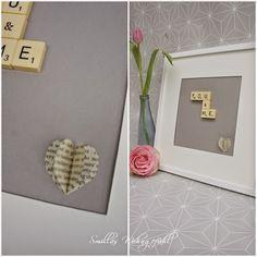 DIY: Frame for valentines day....so easy...so sweet! Bild mit Liebeserklärung nicht nur zum Valentinstag, ganz einfach selbst gemacht!