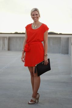 Pampers & Pearls - @amourvert dress,  @giginewyork clutch,  @jcrew necklace & Aldo heels