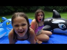 """Hilarious Ending to the Girls Playing In a Giant Barbie Box """" Baby Barbie Girl in a Box """" - YouTube"""