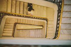 Swirly twirly staircase. San Francisco Wedding Photographer {via Caleb John Hill}