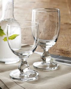 """Hanna"" Glassware by Dansk at Horchow."