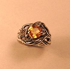 Gorgeous Golden Sapphire Sterling Silver by pacificgrovejewelers, $775.00