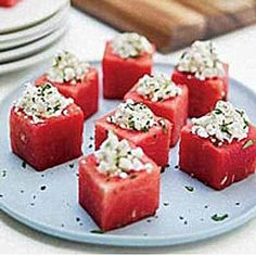 Watermelon Cups With Feta