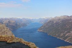 Preikestolen, Stavanger, Norway | Travel Inspiration | Pitsiniekka Stavanger Norway, Norway Travel, Travel Inspiration, Travel Destinations, Water, Outdoor, Road Trip Destinations, Gripe Water, Outdoors