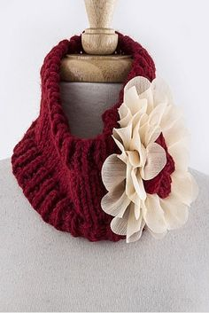 Title: Fashion: $15 MESH KNIT FLORAL ORNATE ACCENT KNIT NECK WARMER  CLICK THE PICTURE FOR MORE INFO.