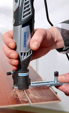 Cut straight lines... try the Dremel 4000JE 4/65 Multi-Tool with 65 Accessories