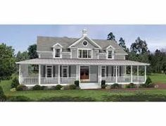single story house plans with wrap around porches - Google Search