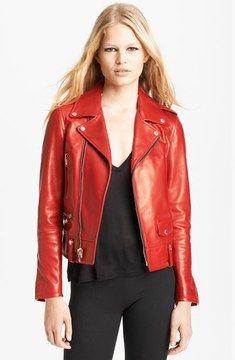 Saint Laurent Lambskin Leather Biker Jacket