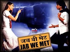 The film is 'Jab We Met' ('When We Met'), a popular film which follows the love stories of a depressed young businessman and a spunky, carefree woman who meet improbably on a train journey. He's running away from life, while she needs a partner-in-crime to help her avoid a dreaded engagement in order to marry the man she truly loves.