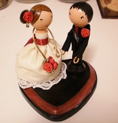 inspiration Clothespin Doll Cake Topper