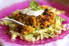 Curried Potato, Chickpea, and Corn Burgers by Perry's Plate, via Flickr