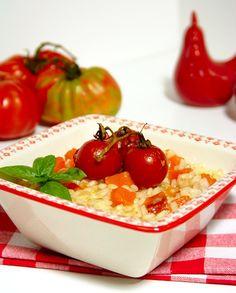 Cinco Quartos de Laranja: Arroz com abóbora e tomate assado