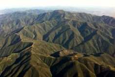 Santa Ana Mountains from the air