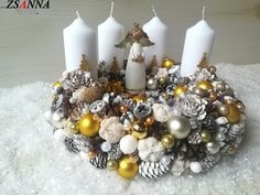 Feher angyalka adventi asztaldísz 30x17cm 115 Advent, Christmas Wreaths, Holiday Decor, Home Decor, Decoration Home, Room Decor, Home Interior Design, Home Decoration, Interior Design