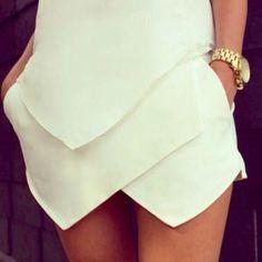 10/10 would wear #zara #skirt #whiteonwhite