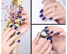 12ml Sweet Color Nail Polish Royal Blue Eco-friendly Manicure Nail Art Varnish Polish e092e525-92cc-418e-89e4-fb12c853bb1f Nail Polish