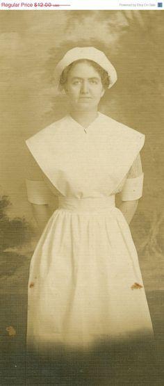 Vintage Nurse Photograph c 1930s-1940s