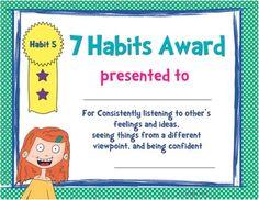 7 Habits Awards