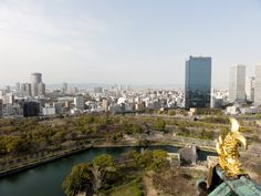 Aussicht vom Ōsaka Castle in Japan