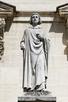"""1079 – 21 April Peter Abelard: """"Constant and frequent questioning is the first key to wisdom … For through doubting we are led to inquire, and by inquiry we perceive the truth. Louvre Palace, Becoming A Monk, Renaissance, Art Roman, 12th Century, Statue, Illusions, Facade, Saint"""