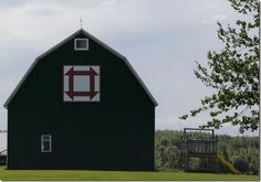 Churn Dash on Elm Lea Farms barn, Cloverdale Rd in Middle Stewiacke, Nova Scotia. The quilt was copied from one Gwen Fisher (family matriarch) had made.