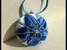 ▶ Blue Star Kimekomi Ornament Tutorial - YouTube