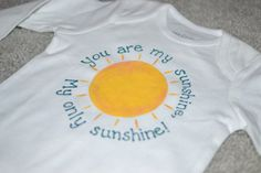 Hand Painted Sunshine T Shirt or OnesieYou are by OneOfAKindOnesie, $19.00