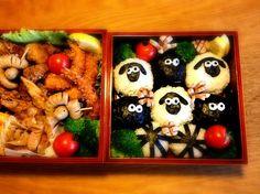 運動会の羊のショーン弁当!