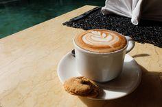 Art is everywhere in Bali. At #AzaaRestaurant, it even invades your morning coffee!    #camakila #camakilabali #legian #bali