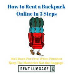 Use Your Hard Earned Money on travel and not boring luggage, here's how #backpackrentals #backpackeurope #backpacks #camping