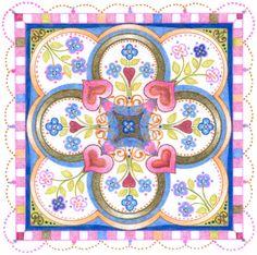 Quilt square Spot illustration
