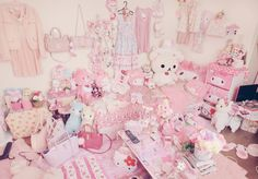 ♥ The Cutest Monthly Kawaii Subscription Box ♥ Receive cute items from Japan & Korea every month ♥ Cute Room Ideas, Cute Room Decor, Pastel Room, Pink Room, Baby Pink Aesthetic, Aesthetic Bedroom, Desu Desu, Casas Shabby Chic, Kawaii Bedroom