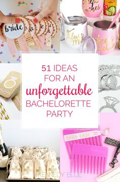 Planning a bachelorette party for your bride-to-be bestie? See our favorite ideas, tips, games, party favors, and gifts for the best night ever! | 51 Ideas for an Unforgettable Bachelorette Party | Kennedy Blue