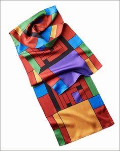 Frank Lloyd Wright H. Price Silk Scarf 1
