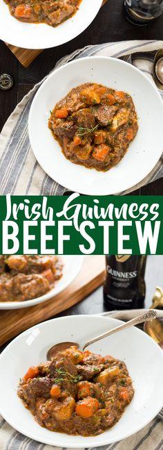 Guinness de carne de vaca guisado irlandés |  El día de St Patrick Cena |  Alimentos de Irlanda |  Estofado de carne